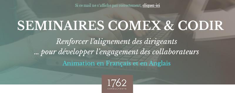 Vos séminaires COMEX & CODIR - 1762 Consultants